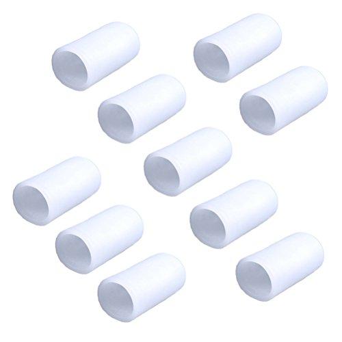 ULTNICE 10 Stücke Silikon Gel Zehenkappen Zehenschutzkappe für Blister Prävention Corn Callus Blasen Schmerzlinderung - Größe S (Weiß)