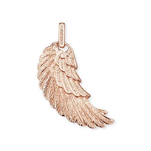 Engelsrufer Flügel Anhänger für Damen 925er-Sterlingsilber rosévergoldet 29 mm