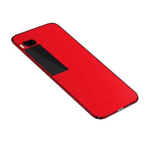 Baanuse Meizu Pro 7 Hülle, [Ultra Slim Hart PC] [Sand scheuern rutschfest] [Stoßfest Rüstung] Schutzhülle für Meizu Pro 7 Rot