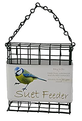Green Jem BF3 Dual Suet/Scraps Wild Bird Feeder, Green, 12x4x12 cm from Green Jem