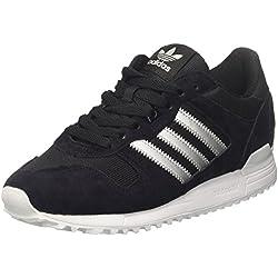 adidas ZX 700, Zapatillas Hombre, Multicolor (Core Black / Matte Silver / Utility Black), 38 2/3 EU (5.5 UK)