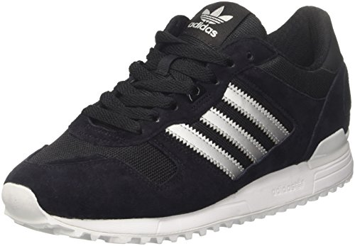 adidas ZX 700, Zapatillas Hombre, Multicolor (Core Black / Matte Silver / Utility Black), 42 2/3 EU (8.5 UK)