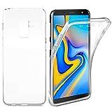 AURSTORE Coque Samsung Galaxy J6 (2018) - Protection intégrale Avant + arrière en Rigide, Housse Etui Tactile 360 degré - Antichoc, Transparent J6 (2018)