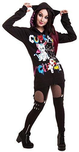 Cupcake cult gOOD bYE veste à capuche pour homme Noir - Noir