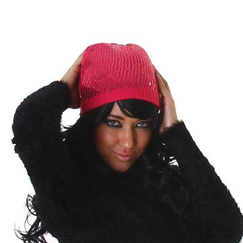 Chapeau de dames de paillettes (B-09069) pink