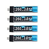 Crazepony 4pcs 260mAh HV 1S LiPo Batterie 30C 3.8V für Kleinen Whoop Blatt Inductrix JST-PH 2.0 Powerwhoop Verbindungsstück