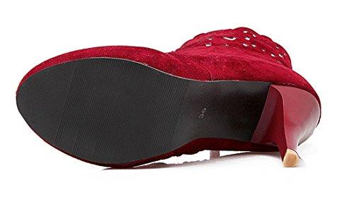 YE , Bottes classiques femme Rouge
