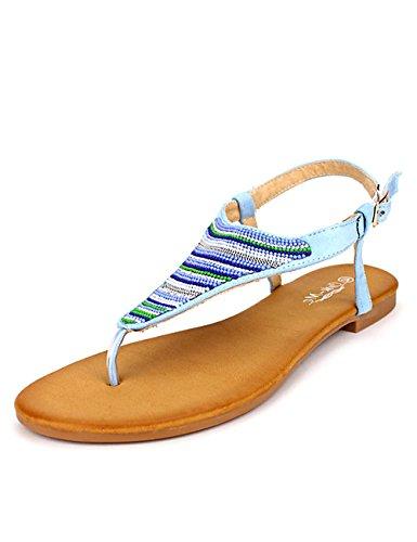 Cendriyon Tongs Bleu Ciel CINKS Mee Chaussures Femme Bleu