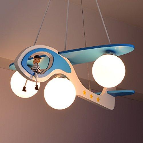 Guo Kinderzimmer-Lichter-Jungen-Schlafzimmer-Flugzeug-Lichter-Kronleuchter-Pers5onlichkeit-kreative Karikatur-Beleuchtung-Legierungs-Lampen-E27 Lampen-Hafen - 2