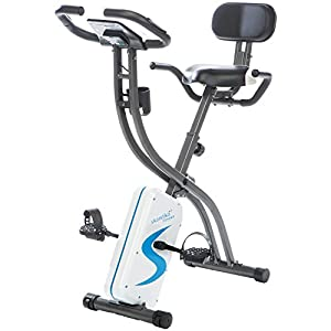 skandika Foldaway X-1000 lite/X-2000 /X-3000 Fitnessbike Heimtrainer X-Bike F-Bike Klappbar mit Handpuls-Sensoren – Ergometer – Hometrainer – Faltbares Fitness-Fahrrad
