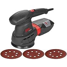 Skil 7445AA - Lijadora excéntrica orbital para discos de 125 mm (430 W, bolsa para el polvo, conexión para aspirador integrada, juego de 3 accesorios)