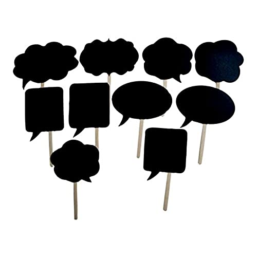 10pcs wedding photo booth props signs speech bubbles on a stick party shower decor