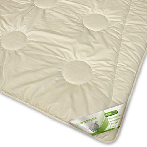 Bettdecke 135x200 Merino Schaf-Schurwolle Duo-Steppbett Winter Melina