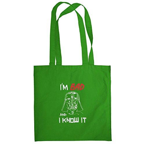 Texlab–I m Bad And I Know It–sacchetto di stoffa Verde