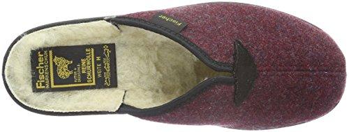 Hauspantoffel burgund Fischer Pantofole In 320 Red Woman Fodera Calda damen Rot BHqwzHg5