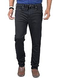 Indigen Men's Denim Jeans (Jr-Bl2838_Black_28)