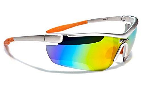 X-Loop Lunettes de Soleil - Sport - Cyclisme - Ski - Squash - Running - Moto - Voile / Mod. 035P Gris Orange Diesel