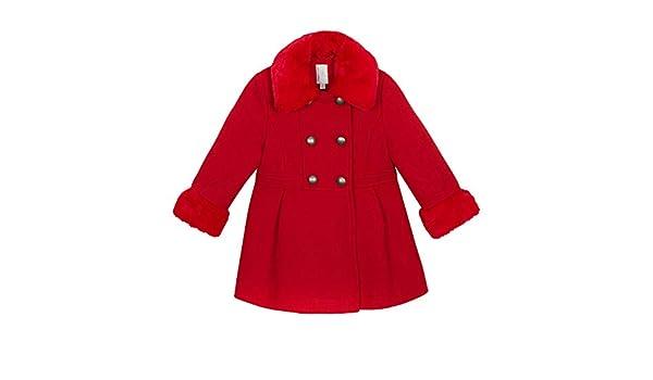 f904ce4ac J by Jasper Conran Kids Girls' Red Faux Fur Trim Coat: J by Jasper Conran:  Amazon.co.uk: Clothing
