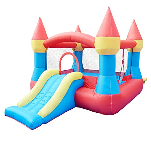 Bouncy Castles Sports Toys Children's Inflatable Castle Small Indoor Trampoline Male And Female Slide Toy Summer Children's Pool Children's Inflatable Toys (Color : Color, Size : 265 * 190 * 170cm)