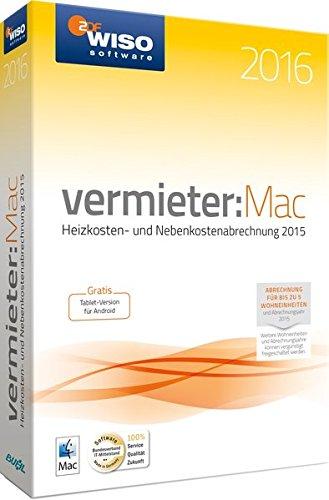 WISO vermieter: Mac 2016 Miet-Nebenkosten auf dem Mac abrechnen
