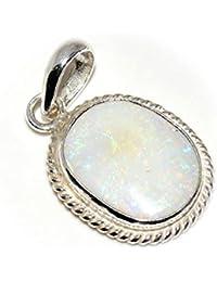 55ct Ópalo 5quilates original Oval naturales sueltos piedra preciosa colgante de plata de ley 92,5