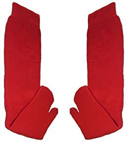 Chaussettes sandales GETA, rouge-Taille adulte (41–46)-Unisexe