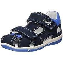 Superfit Baby Boys' Freddy Sandals, Blue (Blue/Blue 80), 7 UK