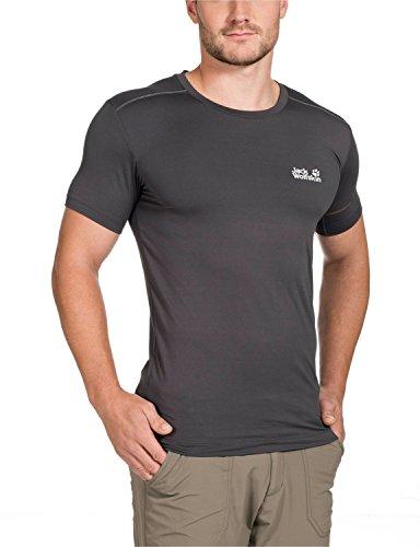 Jack Wolfskin Herren Shirt Dry N Cosy T Men Dark Steel