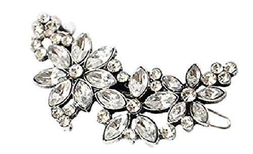Damen Haarschmuck Haarspange Haardeko Kopfschmuck stylen viele Stylmöglichkeiten mit wunderschönen weißen glitzernden Kristallen Diamanten edel Schmuck Accessoires Hochzeit Braut