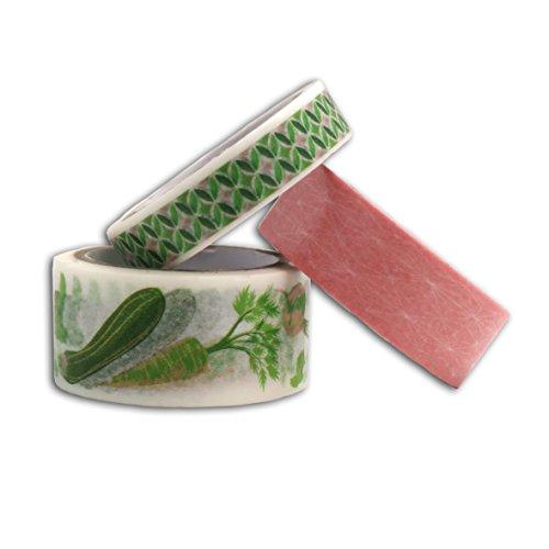 Toga Oh My Green 3Stück Washi, Washi Tape, grün/rosa, 500x 1x 0,1cm