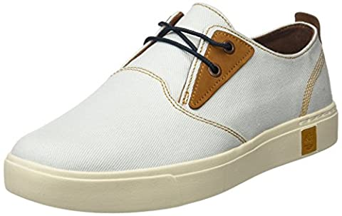 Timberland Men's Amherst Ptowhite Oxford, White, 10 UK