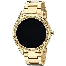 GUESS Reloj de Cuarzo de Acero Inoxidable para Mujer, Color: Tono Dorado (Modelo