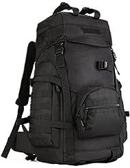 DCCN táctico Molle mochila 60L senderismo mochila táctico senderismo mochila con Cubierta para la lluvia