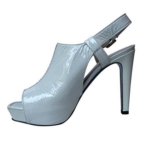 Kennel & Schmenger , Escarpins femme White Patent Studded Shoe Boot
