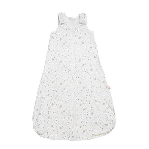 Ergobaby Baby Schlafsack Sommer Neugeborene 56-62 Baumwolle, Sommerschlafsack Babyschlafsack 0-6 Monate 0.5 TOG, Silver Moons