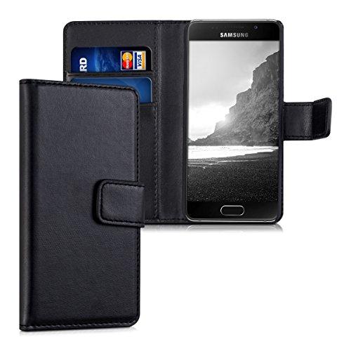 kwmobile Samsung Galaxy A3 (2016) Hülle - Kunstleder Wallet Case für Samsung Galaxy A3 (2016) mit Kartenfächern & Stand - Schwarz