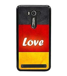 Love 2D Hard Polycarbonate Designer Back Case Cover for Asus Zenfone 2 Laser ZE550KL (5.5 INCHES)