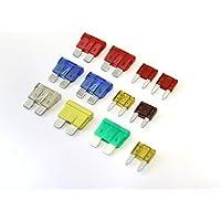100 STÜCKE Mini Auto Lkw Low Profile Sicherung Micro Blade Fuse Set Kit Sortiert