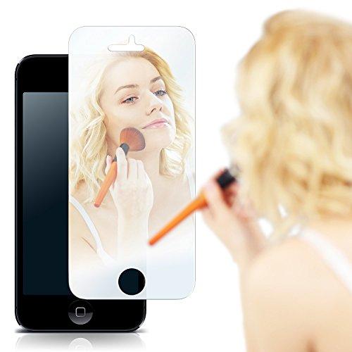 iPhone 5S Spiegelfolie Display Schutz verspiegelt [Mirror] Screen Protector Handy-Folie Displayschutz-Folie für iPhone 5/5S/SE Schutzfolie vorne Spiegel Iphone 5s Mirror Screen Protector