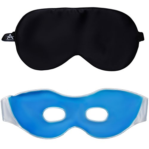Amentics Schlafmaske Luxus Schlafbrille 100% Seide - Kühle Wellness-Maske zur Entspannung,...