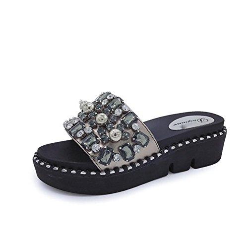 pengweiLe signore di moda estive scarpe spesso suole Sandali Pantofole 1