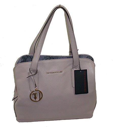 Sac à Main en Cuir-TRUSSARDI JEANS shopping Poudre B531 handbag LEATHER