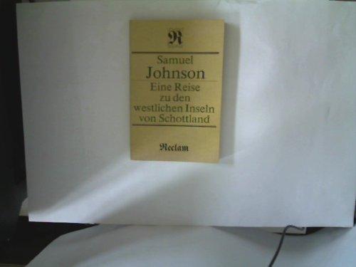 Samuel Johnson: Eine Reise zu den westlichen Inseln von Schottland