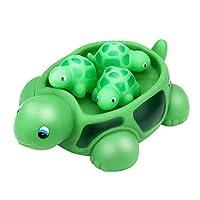 OIKAY Floating Bath Tub Toy,Shrilling Rubber Cute Sea Turtle Family Bathtub Pals Floating Bath Tub Toy For Kids