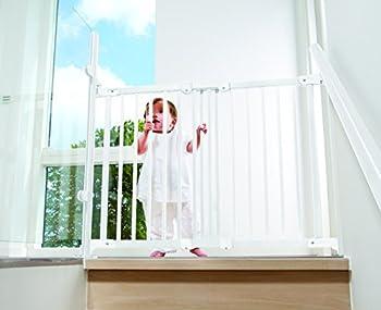 BabyDan Barrière de sécurité, 55011, Flexi Fit Bois Blanche, 69 - 106,5 cm