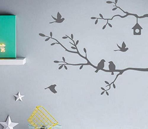Wandaufkleber Applikation Tapetewandaufkleber Abziehbilder Kunst Wort Dekoration Haus Zimmer Wandaufkleber Dekor Schwarz Grau 62 Cm X 68 Cm (Hause Worten Dekor)