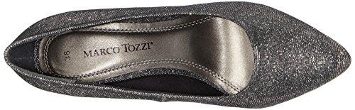 Marco Tozzi 22405, Chaussures à talons - Avant du pieds couvert femme Argent - Silber (Pewter Metall. 922)