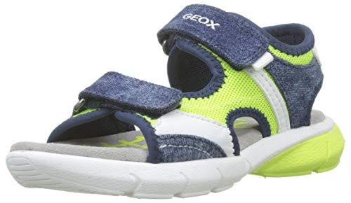 Geox B Sandal Flexyper Boy Bimbo, (Fluo Yellow/Navy C2hf4), 23 EU