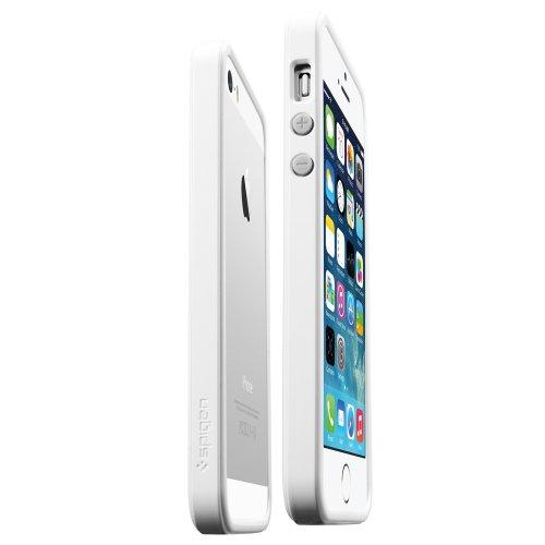 Spigen SGP10032 Neo Hybrid EX Slim Snow Series Case für Apple iPhone 5S/5 infinity weiß Weiß