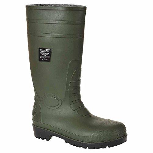 SUW–Gesamt Arbeit Sicherheit Wellington S5, EU 38 - UK 5, weiß, 1 grün